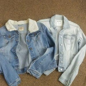 2 jeans jackets Sz